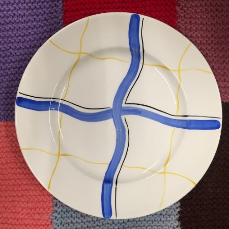 blue line plate